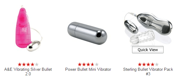 Choose Bullet and Egg Vibrators when buying sex toys for the first time