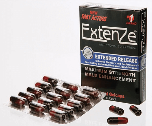 Strong erections with Adam & Eve Extenze fast acting liquid gelcaps